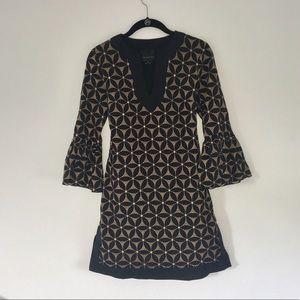A n n a S u i // Anthropologie =Bell Sleeve Dress